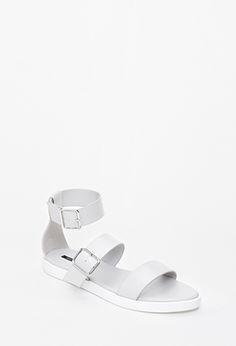 Buckled Flatform Sandals   Forever 21 - 2049258832 in NUDE OR GRAY