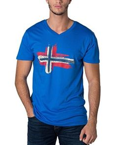 Geographical Norway T-Shirt [blau]
