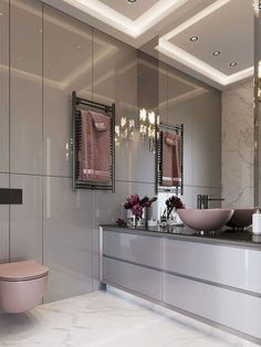 Inspired Modern Apartment Decor – Harvey Clark – Home Decor Apartment Bathroom Layout, Bathroom Interior Design, Decor Interior Design, Small Bathroom, Bathroom Ideas, Bathroom Goals, Bathroom Sinks, Bathroom Organization, Bathroom Marble