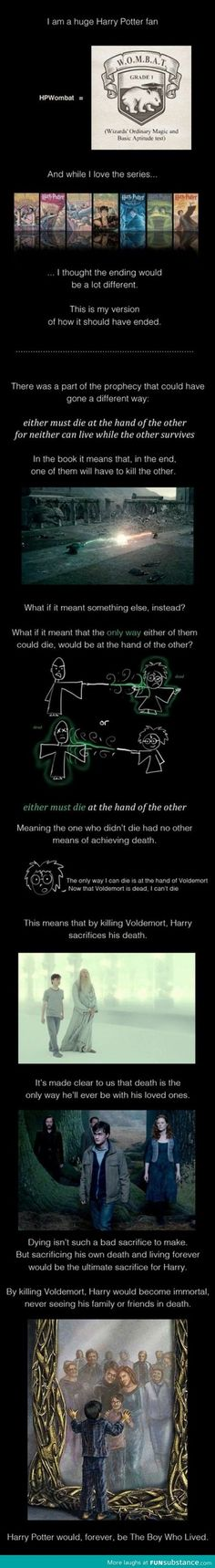 An alternative Harry Potter ending