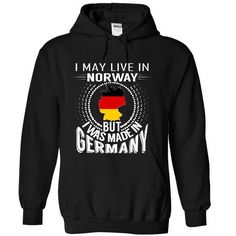 I May Live in Norway But I Was Made in Germany (V5) - #black shirt #floral sweatshirt. GET IT => https://www.sunfrog.com/States/I-May-Live-in-Norway-But-I-Was-Made-in-Germany-V5-vlezejhxxo-Black-Hoodie.html?68278