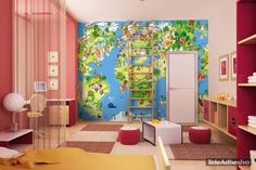 Fotomurales: Mapamundi Infantil #decoracion #deco #fotomural #infantil #vinilo #mapa #mapamundi #pared #TeleAdhesivo