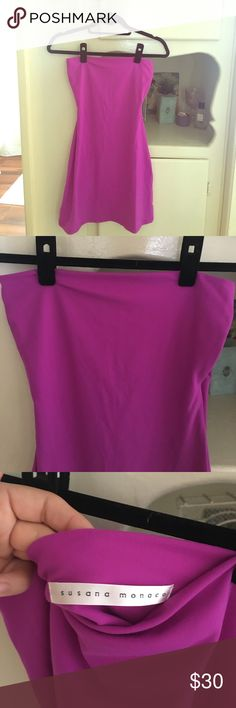 🌸 Susano Monaco Purple / Pink Tube Dress Small 🌸 Never worn perfect condition and is a sexy magenta color! Bought from shopbop a while back Dresses Mini