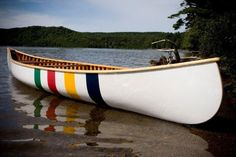 Hudson Bay painted canoe- i'd love this to house our apps...do we know anyone at Hudson Bay?? wonder if they'd donate 400 blanket (throw size) for swag gifts...that would be awesome