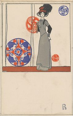 Josef Diveky (Hungarian, Published by Wiener Werkstätte Date: ca. Koloman Moser, Art Nouveau Poster, Poster Art, Gustav Klimt, Vienna Secession, Postcard Printing, Alphonse Mucha, Design Art, Design Poster