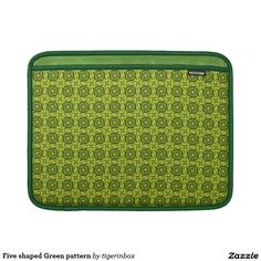 "Rickshaw MacBook Air sleeve with modern green pattern. The motif is inspired by shape of the number five.  Water resistant, extra durable. Ultra-plush protective lining.  Sized for MacBook Air 11"" or MacBook Air 13""   $69.45"