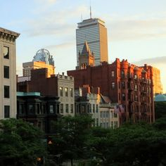 Newbury Street, Boston, at sunset! Click to add your opinion to the debate: Is makeup worth it??