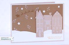 Stampin' Up! - Video - Tutorial - Holiday Home - Christmas Card - Anleitung - Aus dem Häuschen - Winterlandschaft - Winter Scene ❤ Stempelwiese