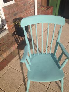 Painted my old Carver Chair in Annie Sloan Chalk Paint in Provence