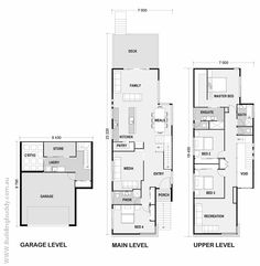 BLUEBERRY ASH - Sloping Lot House House Plans by http://www.buildingbuddy.com.au/home-designs-main/sloping-lot-house-plans/