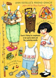 Paper Doll by Mary Engelbreit Gracie Goes Fishing