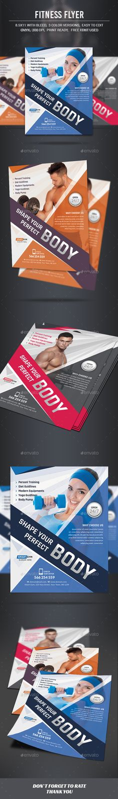 Fitness Flyer Template PSD #design Download: http://graphicriver.net/item/fitness-flyer/13164190?ref=ksioks