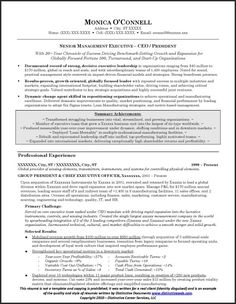 sample executive resume for ceopresident page 1