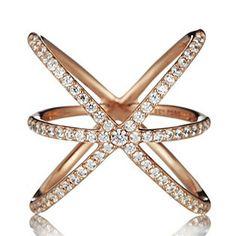 Diamonique 0.7ct tw Starburst Ring Sterling Silver