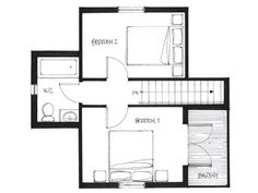 Smallworks Custom Small Homes & Laneway Houses in Vancouver | Design and Floor Plan for Arts & Crafts - 650 Lane House