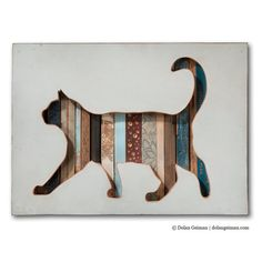 Pet Cat Portrait Cat Walk Collection Made to Order by dolangeiman, $250.00