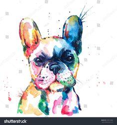 Borsa Shopping shopper Bulldog Francese WOOF