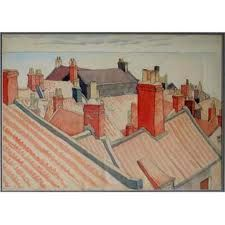 Rooftops, Robin Hoods Bay by Albert Wainright Overall dimensions: x An unsigned watercolour of rooftops at Robin Hoods Bay. Originally purchased from the artist's sister. Robin Hoods Bay, Present Day, Contemporary Art, Rooftops, Watercolor, Illustration, Artwork, Pictures, Painting