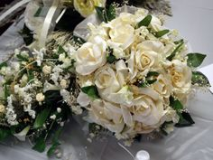 Manistee Wedding - Bridal Portraits - All White Bridal Bouquet  www.rozmarekphotography.com