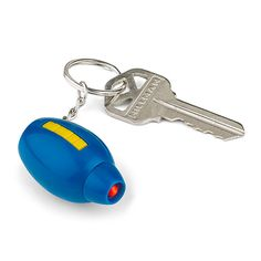 Get ready to blast through traffic with ThinkGeek's Mega Man Mega Buster Keychain. This mini buster gun really lights up, although it does not really fire three tiny bullets of highly compressed solar energy, dang it.