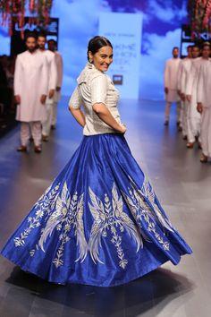 Anita Dongre at Lakme Fashion Week - Spring Summer 2016 Sonakshi Sinha Showstopper  #Rajasthan #Inspiration #LoveNotesByAnitaDongre