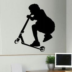 razor scooter wall art | to scooter tricks youtube scooter tricks scooter trickes razor scooter ...
