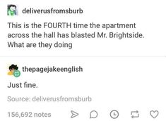 Why is that a bad thing Mr. Brightside is the worlds best song Mr Brightside, Emo Band Memes, Everything Funny, Music Memes, Live Laugh Love, Indie Music, I Can Relate, Best Songs, My Chemical Romance