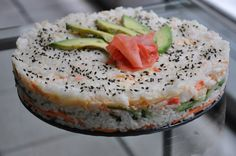 Sushi Cake... I will live off this with the addition of snapper and omission of imitation crab.