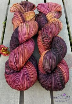 Ewetopia Sock 4 ply, Hand dyed yarn, Superwash merino wool,  438 yds/ 100g: Red Maple. by Lambstrings on Etsy
