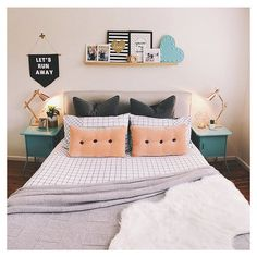 #regram from @joyess featuring the Kmart copper lamps, Trent grid quilt cover, led heart light, geo candle holder and faux sheep skin rug. Gorgeous!  #kmartaddictsunite #kmartstyling #kmartaus #interiorstyling #interiordesign #interiordecorating #interior #decor #design #style #styling #copper #copperlove #coppertrend