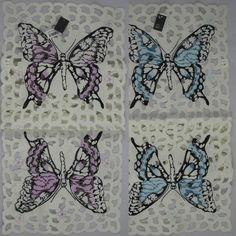 Butterfly 12 X Table Runner Embroidered In Teal Or Violet & Garden Or Violet, Table Runners, Teal, Butterfly, Tableware, Dinnerware, Tablewares, Dishes, Butterflies