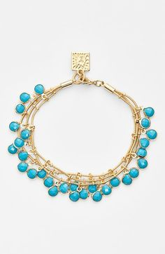 Anne Klein Triple Row Beaded Bracelet available at #Nordstrom