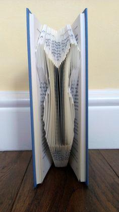 Folded Book Art - Book folded into Dress Design
