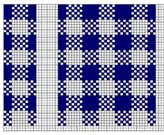 This punch card stitch pattern has been designed for use with 12-stitch punch card knitting machines. It would be easily adapted for use with 24-stitch machines or hand knitting.