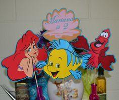 Little Mermaid Ariel and Friends Centerpeice / Table Topper 4pc set