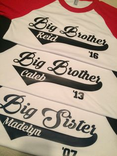 Big Brother Big Sister Raglan baseball by SouthernYankeeStyles