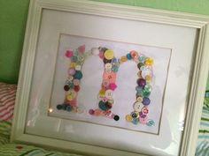 """button art: letter """"m"""""""