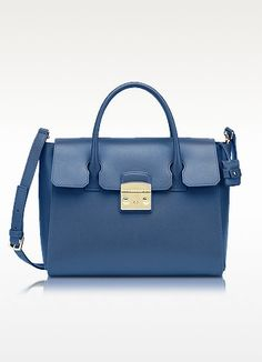 FURLA METROPOLIS LEATHER MEDIUM SATCHEL. #furla #bags #shoulder bags #hand bags #leather #satchel #lining #