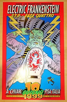 1999 Electric Frankenstein - Pisa Concert Poster by Chuck Sperry @ niftywarehouse.com #NiftyWarehouse #Nerd #Geek #Entertainment #TV #Products