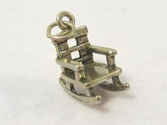 Vintage Sterling Silver Rocking Chair by wandajewelry2013 on Etsy