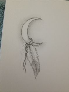 Drew my next tattoo its my Indian name. White moon feather