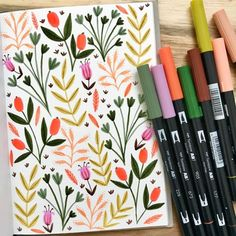 Obsessed with these Dual Brush Pen florals drawn by 😍 . Bullet Journal Notebook, Bullet Journal Ideas Pages, Bullet Journal Inspiration, Brush Pen Art, Tombow Dual Brush Pen, Watercolor Brush Pen, Posca Art, Bullet Journal Aesthetic, Flower Doodles