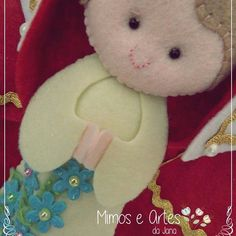 Boneca Santa Isabel em feltro by Mimos e Artes da Jana