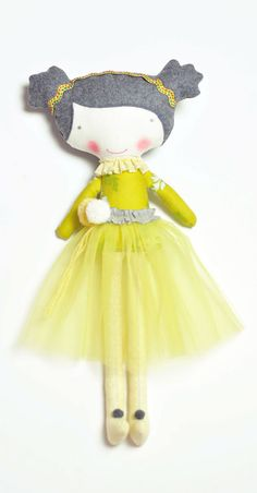 Aurora doll with a lovely yellow tulle skirt  by PinkNounou