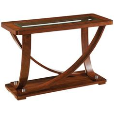 Pavilion Okoume Brown Rectangular Sofa Table