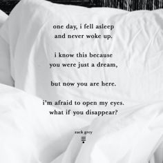 from 'The Space Between Us', co-authored with @courtneypeppernell coming October 6th. ____________________________________ my book Dear Midnight is available through the link in my bio for under $6⠀ ____________________________________ #zackgrey @zackgreywrites⠀ Space Between Us, Open My Eyes, I'm Afraid, Poetry Quotes, I Fall, How To Fall Asleep, My Books, October, Author
