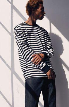 02e82a95a332 PacSun Baron Stripe Long Sleeve T-Shirt Pacsun
