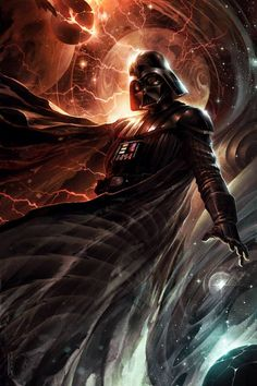 Darth Vader Center of the Storm Star Wars Animation I decided to reformat this image from wayyy back when I first started making animations. Darth Vader - Center of the Storm by Raymond Swanland, animated by me Darth Vader Star Wars, Anakin Vader, Anakin Skywalker, Darth Vader Video, Darth Vader Artwork, Star Wars Fan Art, Images Star Wars, Star Wars Pictures, Star Wars Art