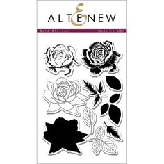 Altenew BOLD BLOSSOM Clear Stamp Set Preview Image