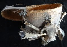 Tribal Shaman Bag Hand Woven Skull and Shell Art Dayak Kalimantan Borneo Collect #Indonesian